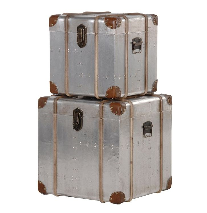 Metal Clad Square Trunks Set 2 – Cowshed Interiors
