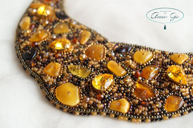 Gustav Klimt The Kiss necklace Amber necklace Embroidery necklace Big neckalce Large necklace Beaded necklace Natural stone necklace by byannagu on Etsy
