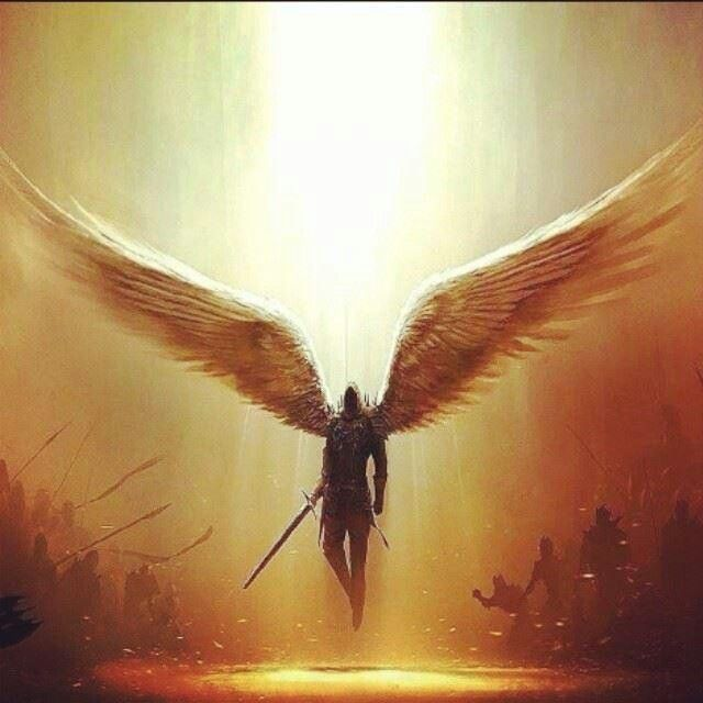 A Kyrie Type Of Angel Warrior Standing In The Gap Between Two Armies Some Call Meddlers They Think Themselves As Peacekeepers
