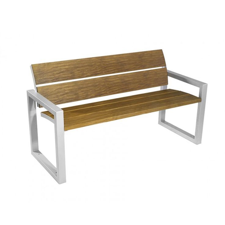 Isaac bench #basiccollection #wooden #woodenseat #steel #outdor #bench