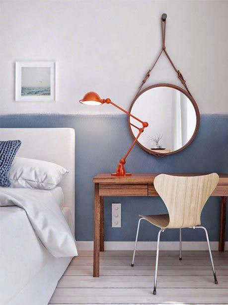 miroir original cuir
