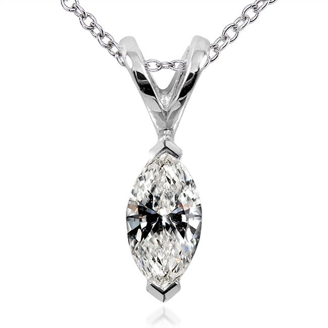 9 best pendant settings images on pinterest diamond pendant this elongated boat shaped marquise diamond is considered a royal shape crafted in white gold this pendant hangs from a graceful cable aloadofball Choice Image