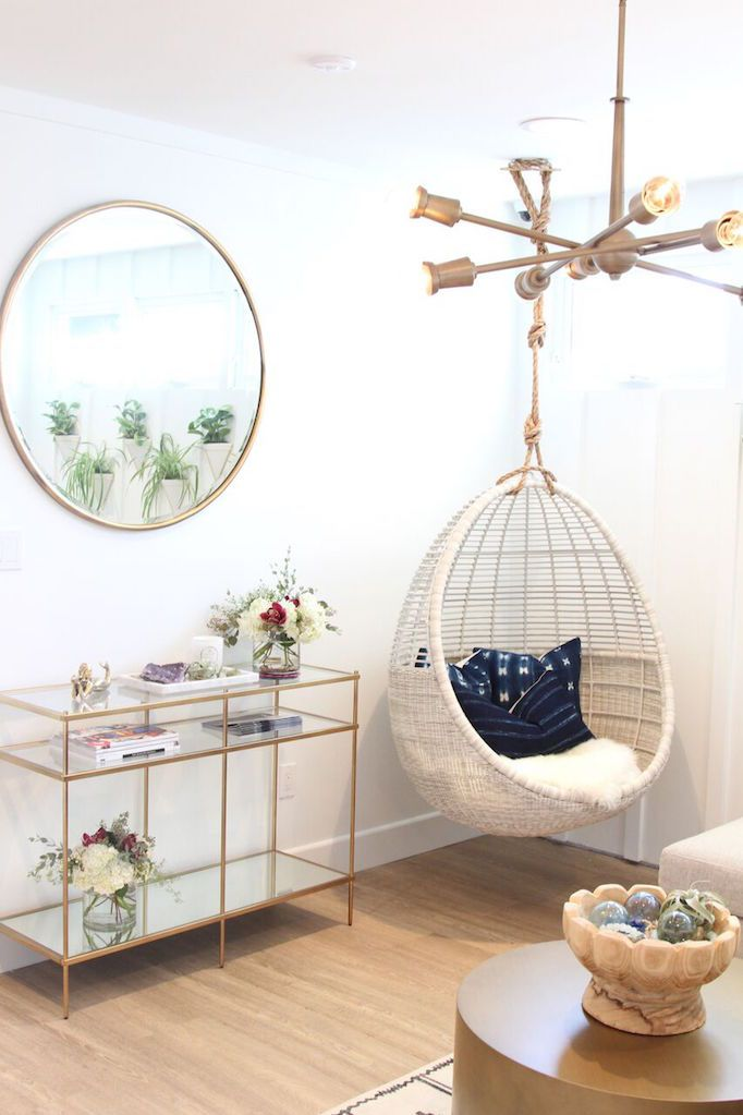 BECKI OWENS--Gorjana Flagship Store Reveal. A fresh space with a minimalist foundation of white and light wood layered with bohemian details, brass accents, cement tile, and vintage textiles.