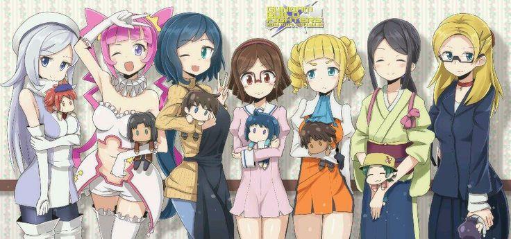 Fan art of the girls from Gundam Build Fighters