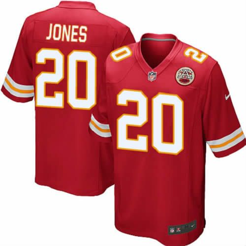 Thomas Jones Jersey Kansas City Chiefs #20 Youth Red Elite Jersey Nike NFL Jersey Sale