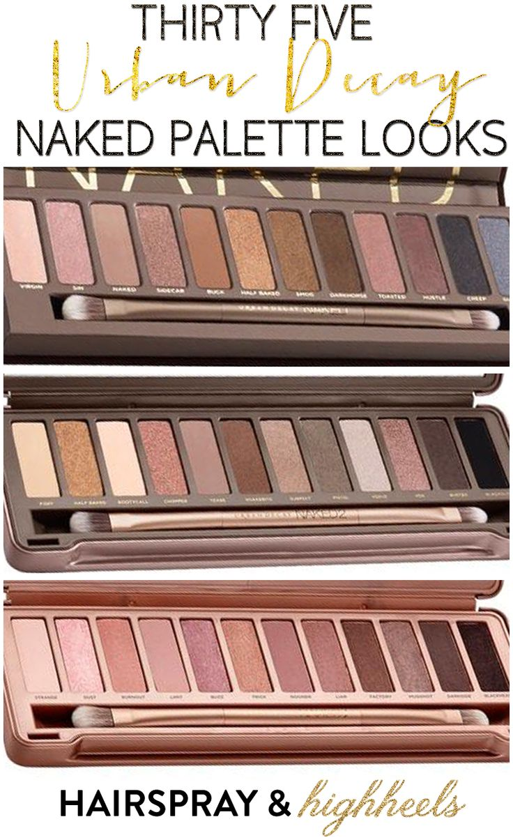 35 Naked Palette Looks! Get a tutorial that works for you for your favorite Urban Decay Naked Palette!
