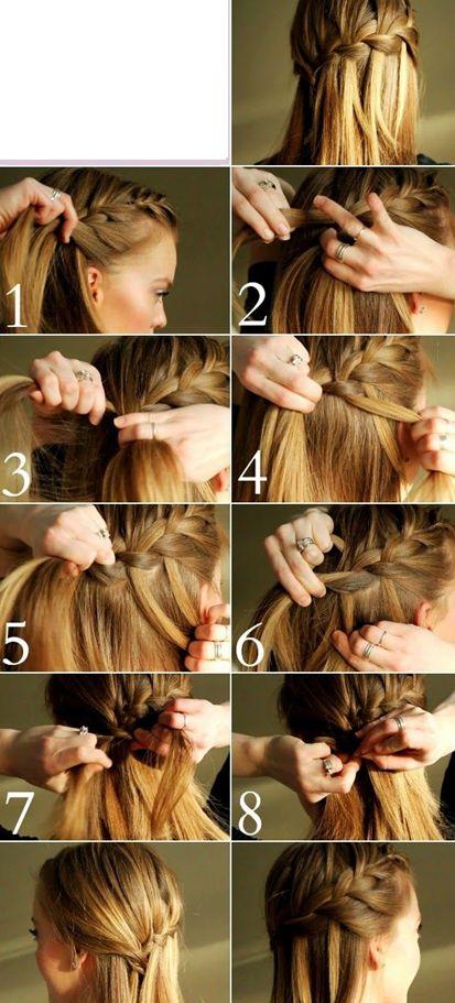 peinado-con-trenza-sencilla-2 #peinadosfaciles #peinadoscontrenzas