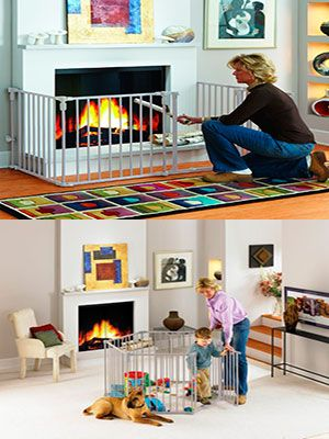 baby proof fireplace gate