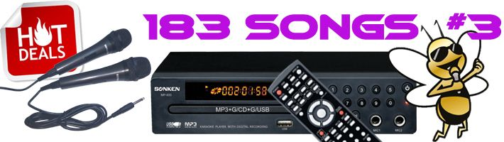 Sonken MP600 Hot Deal # 3 with 182 Songs included!