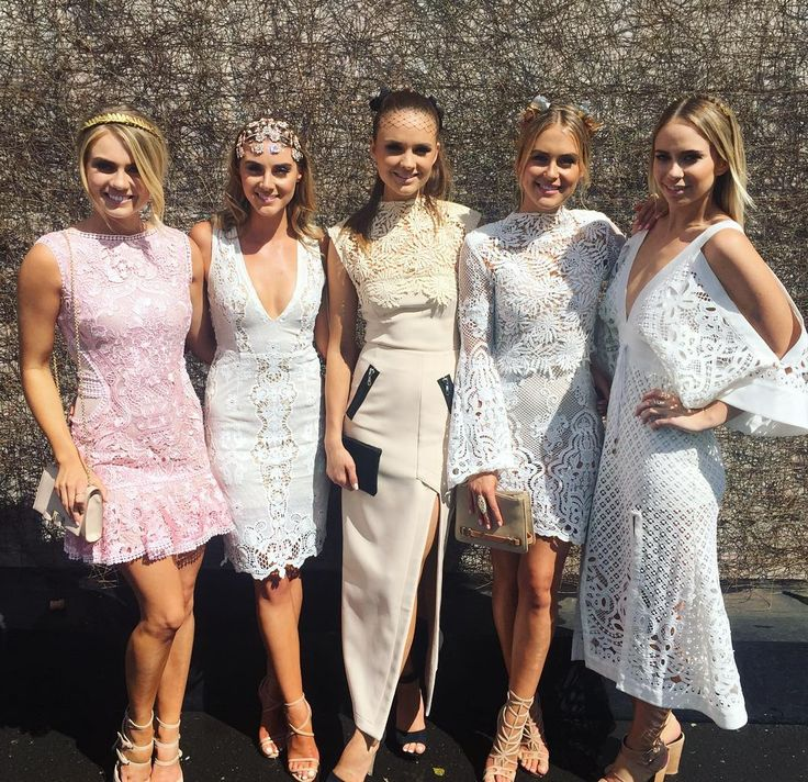 """""""Ladies in lace. #squadgamestrong @elyseknowlzy @laura.henshaw @stephclairesmith @tee_smyth  #oaksday #lace #squad #wegotthememo"""""""