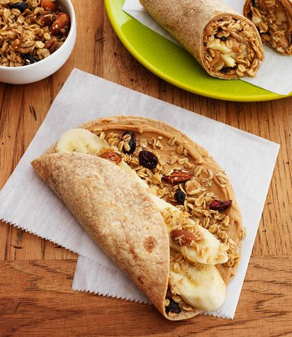 Bear Naked granola peanut butter wrap.  This sounds sooooo good.  I think I might just have to pick up some wraps.  Perfect for a quick breakfast on the go.