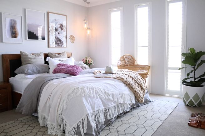 Master bedroom makeover with our Tangier rug by Miss Kyree Loves | armadillo-co.com