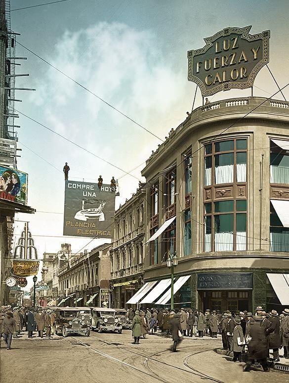 Calle Ahumada esquina Compañía (1929)