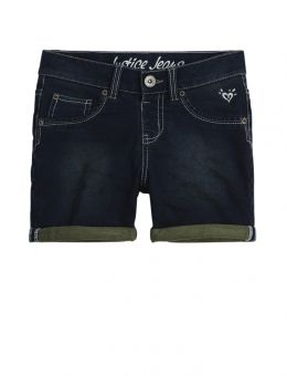 Knit Denim 3.5 In Roll Cuff Shorts