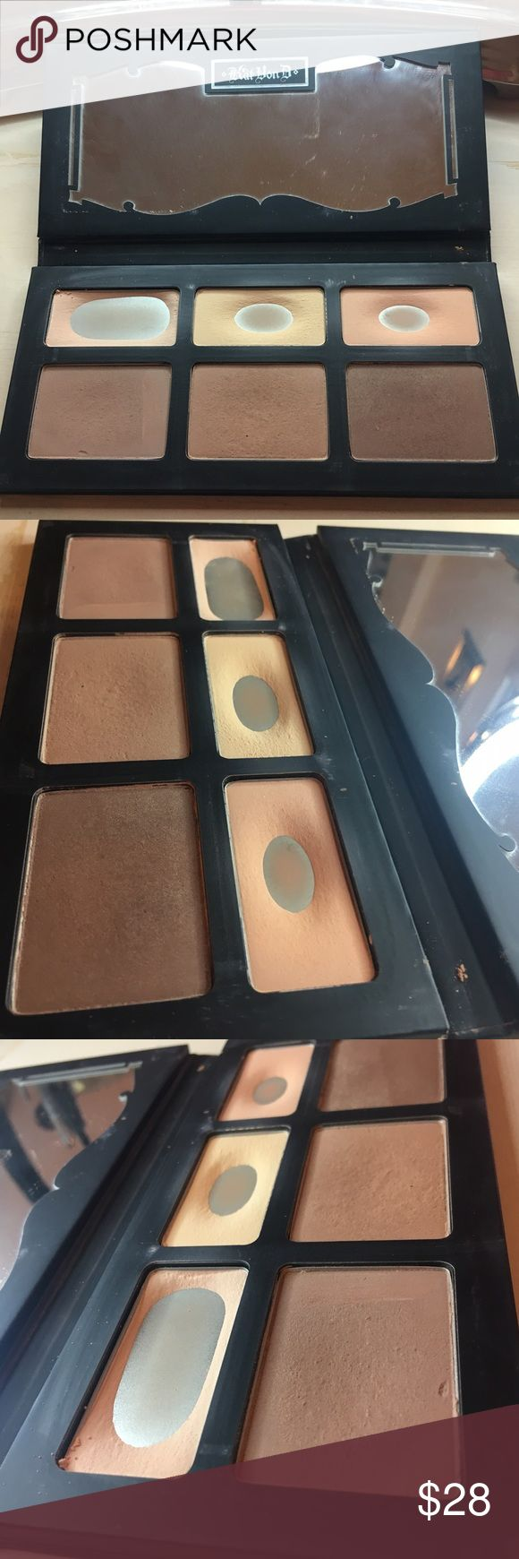 Kat Von D Shade and Light Palette Kat Von D Shade and Light Palette. Used mostly just the highlight shades. Contour shades were used maybe once or twice. Pans are full. In great but used condition. Contour shades sell for around $20 each at Sephora. Kat Von D Makeup Face Powder