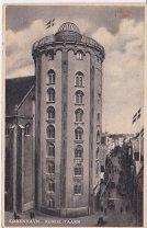 #ПКПП Копенгаген Круглая башня Из Копенгагена в США 12 8 1936г 2м224 по 12 евро 78ня - 500 р. #  Круглая башня (rundetaarn) в Копенгагене имеет высоту 36 метров ее построили во время правления датского короля Кристиана IV с 1637 по 1642 год. Сегодня круглая башня одна из главных достопримечательностей и визитная карточка Дании. Ее уникальность состоит в том что в ее конструкции нет ни одной ступени а для того чтобы подняться на верх Вам придется преодолеть пологий винтовой подъем…