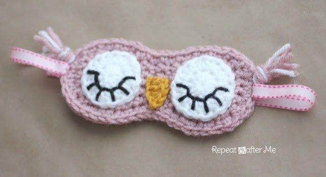 Crochet Sleepy masque de hibou - Répéter Crafter Me