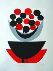 Terry Frost 'Life is just a bowl of cherries' screen print