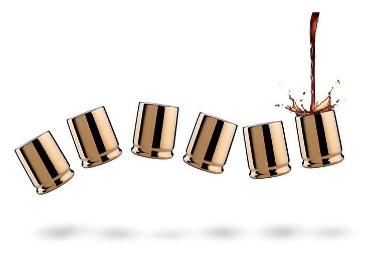 Espresso šálky VICE VERSA Coffee Shots 6ks. Porcelánové espresso šálky