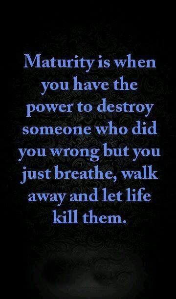 Poise and maturity