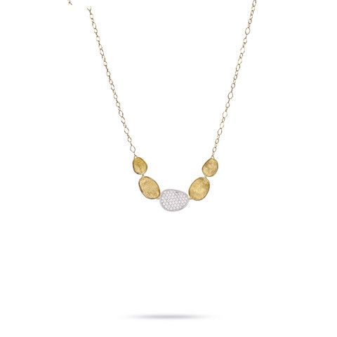 Lunaria Gold & Diamond Pave Graduated Necklace