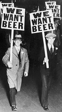 We want beer! ~ Prohibition Repeal Day
