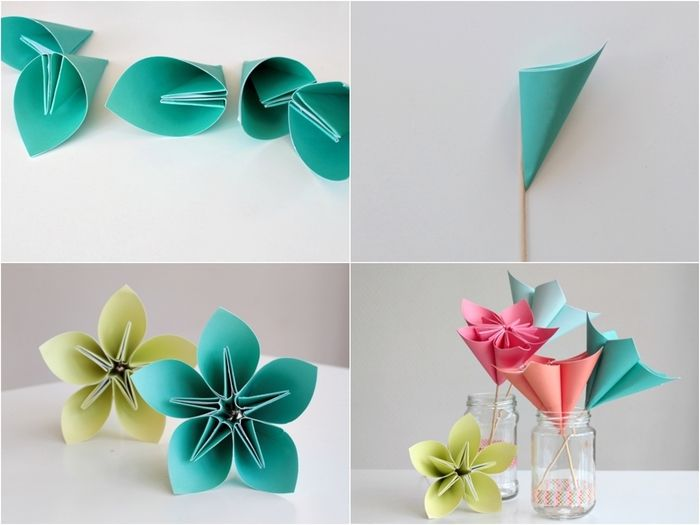 1001 + modèles d'origami fleur facile pour célébrer le ...