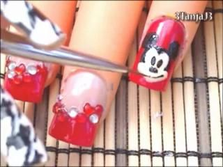 Mickey Mouse Nail Art Design Tutorial