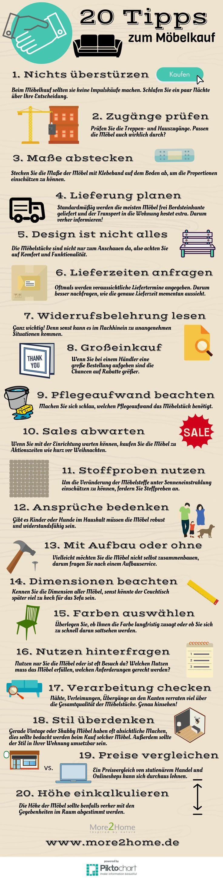 In Dieser Infografik Haben Wir 20 Nützliche Tipps Zum Möbelkauf  Zusammengetragen. #möbel #kaufen
