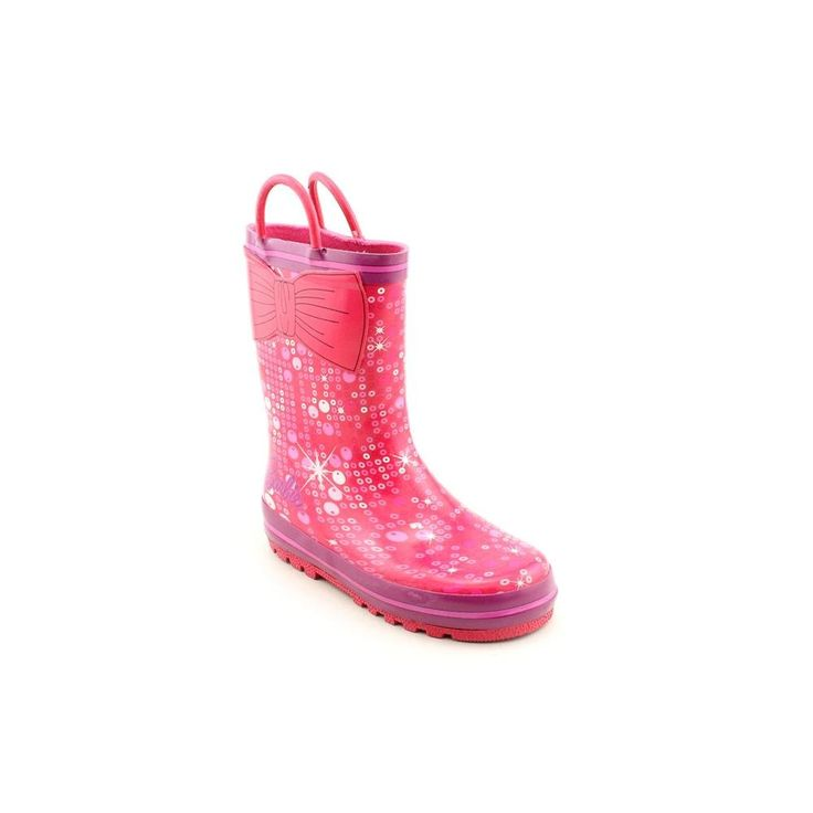 Mattel Barbie BBS500 Rain Boot (Toddler/Little Kid),Pink,11 M US Little Kid. Hot Pink/Purple. Officially licensed Mattel Barbie kids footwear. Features pull handles to ease putting them on. Waterproof rubber uppers feature cool graphics. Durable and easy to clean; Imported.