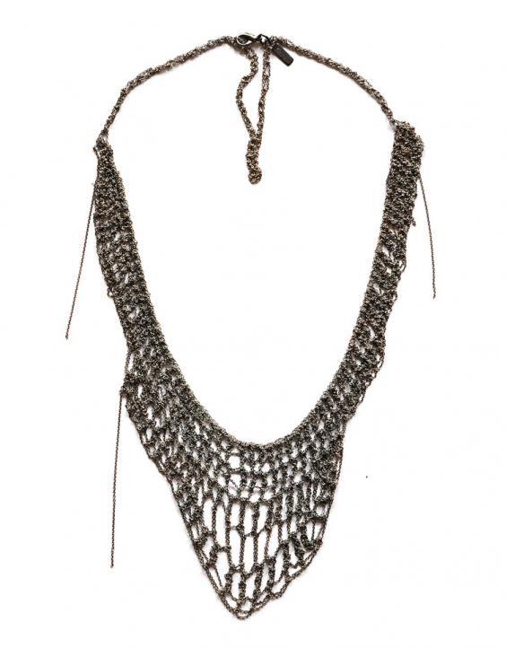 MARIPOSSA LAUREN BESSER, VERTIGO NECKLACE: woven and twisted chain.