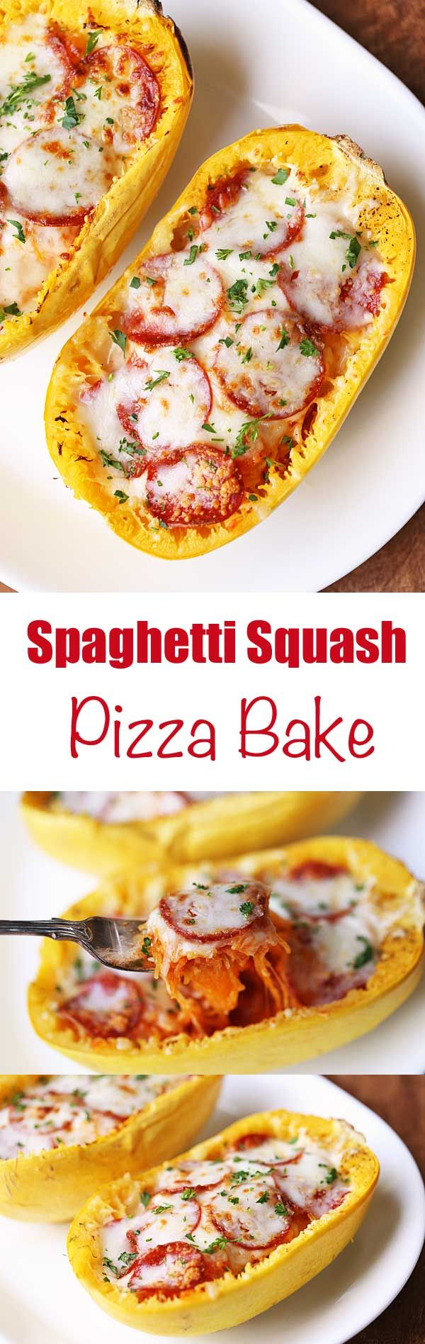 Spaghetti squash pizza lets you enjoy the flavors and textures of pizza (or pasta) without the carb and gluten overload, and with the added nutrients and fiber from spaghetti squash.