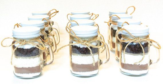 Hot Chocolate Mini Mason Jar Mug 4 oz Mason Jar Mug Milk