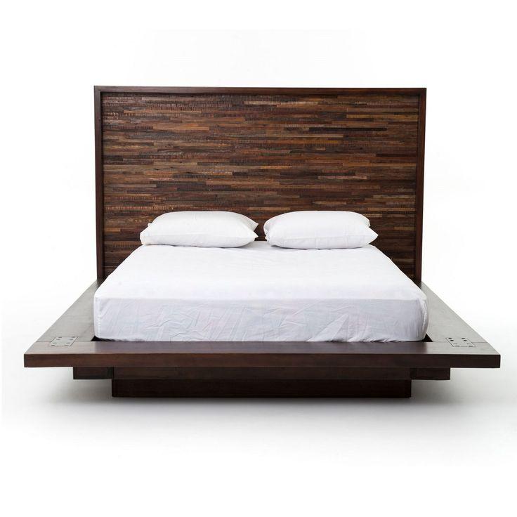 devon reclaimed wood king platform bed frame - King Bed Frame Wood