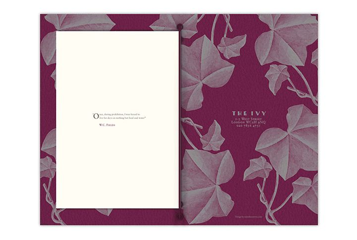 The Ivy menu by United Creatives 02