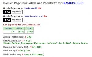 Kaskus.co.id adalah forum terbesar indonesia saat ini,terakhir saya cek pageranknya adalah PR 5 dengan alexa global traffic 300an.Semua orang kenal kaskus,kecuali anak-anak alay yang hobinya update status di Facebook..wkwk Oke deh lanjut ke pokok bahasan ya,dari tadi ane iseng bolak-balik cek PR klo