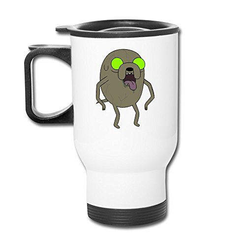 Ceramic Travel White Cups Adventure Time Finn Jake Zombie Time Coffee Thermos Mugs Insulated Cups @ niftywarehouse.com #NiftyWarehouse #AdventureTime #TVShow #Cartoon #Show #CartoonNetwork