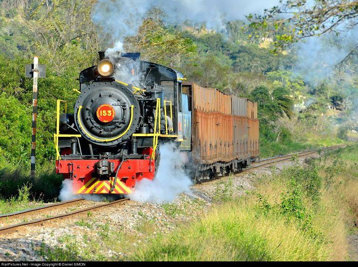 153-1M EF Dona Teresa Cristina Steam 2-8-2 at Between Urussanga and Tubarao, Brazil by Daniel SIMON