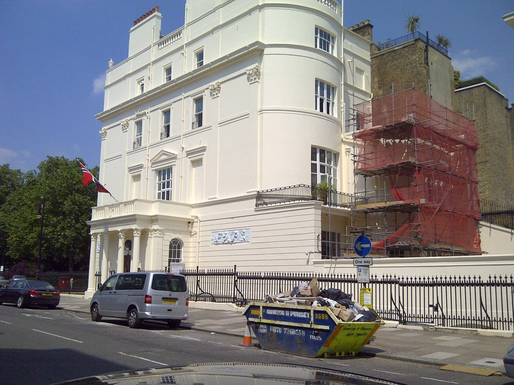 Royal Norwegian Embassy, London - being refurbed (we're replacing a large rooflight)