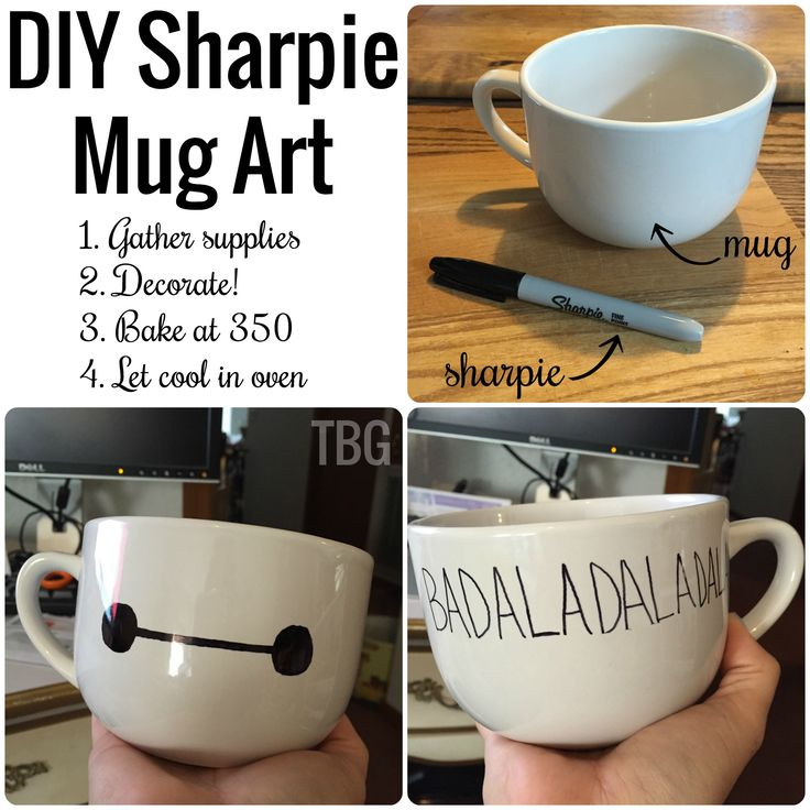 Baymax mug art | thebeautifulgeek.com