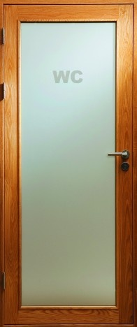 Ramsö, internal glazed door in solid oak | Bovalls dörrbyggeri