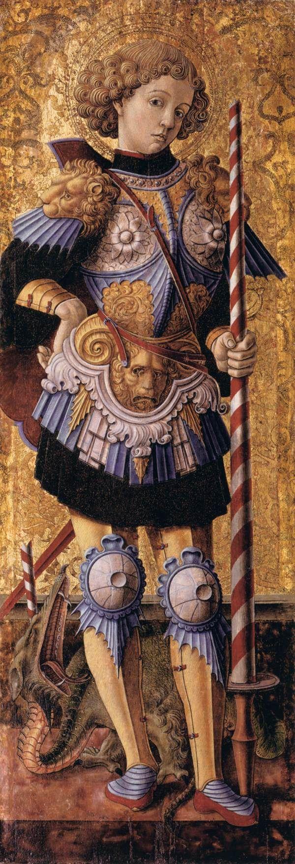 ST. GEORGE...   1472, Carlo Crivelli..   Italian Early Renaissance Painter ( ca1430 - ca 1495)