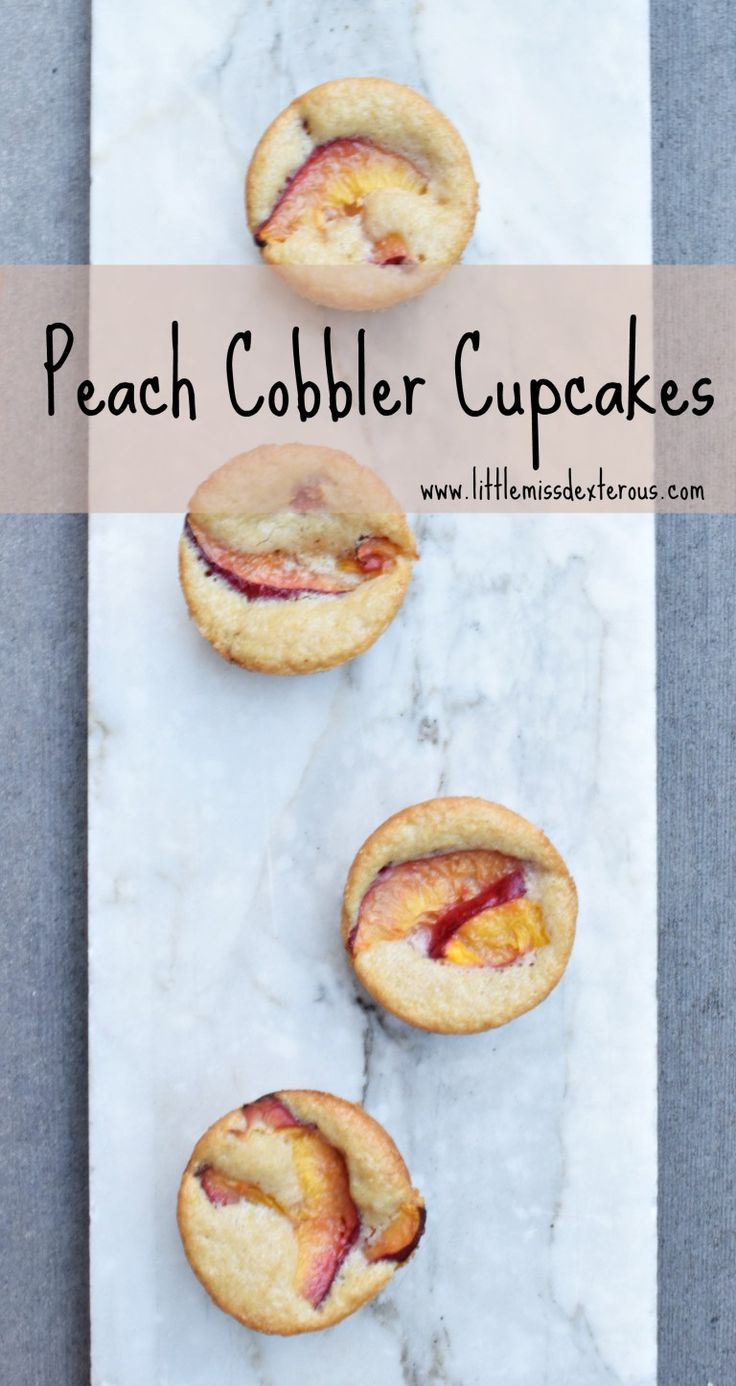 ... Peach Cobbler Cupcakes on Pinterest | Cobbler, Cupcake and Peaches