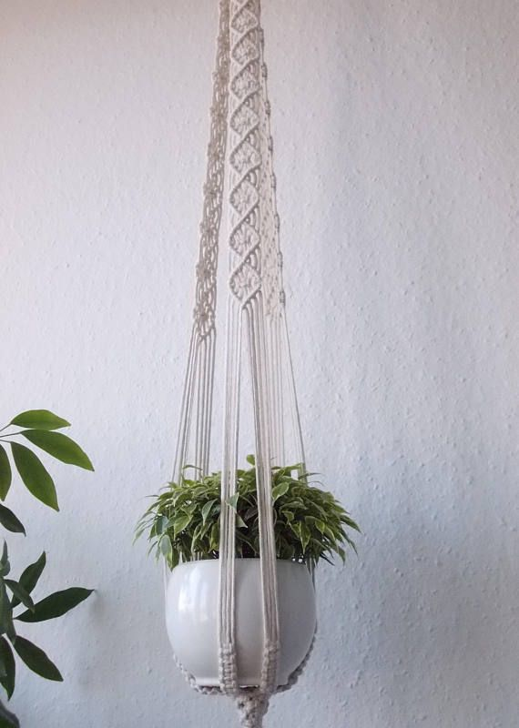 Macrame Plant Hanger 100 Cotton Rope 35 90 Cm Long Macrame Shelf Candle Holder Pot Hanger Or Macrame Hanging Table Makrame
