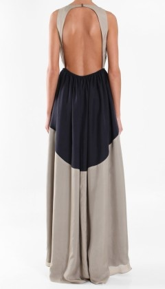 Love the backless maxi dress
