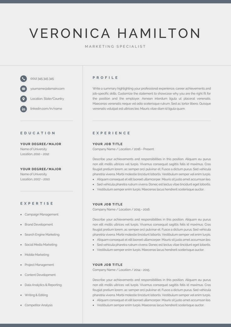 Limited Time Offer Get 2 Templates For The Price Of 1 Add 2 Items To Your Cart An Modern Resume Template Resume Template Word Resume Template Professional
