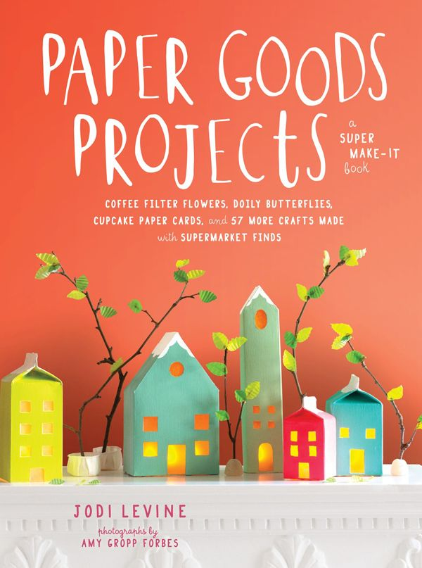 Brand new craft book with projects using easy-to-find-materials: Paper Goods Projects by Jodi Levine