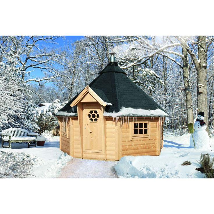 Sauna traditionnel bois 44 mm kota 1 376 cm sans poele meseo saunas d - Sauna exterieur poele bois ...