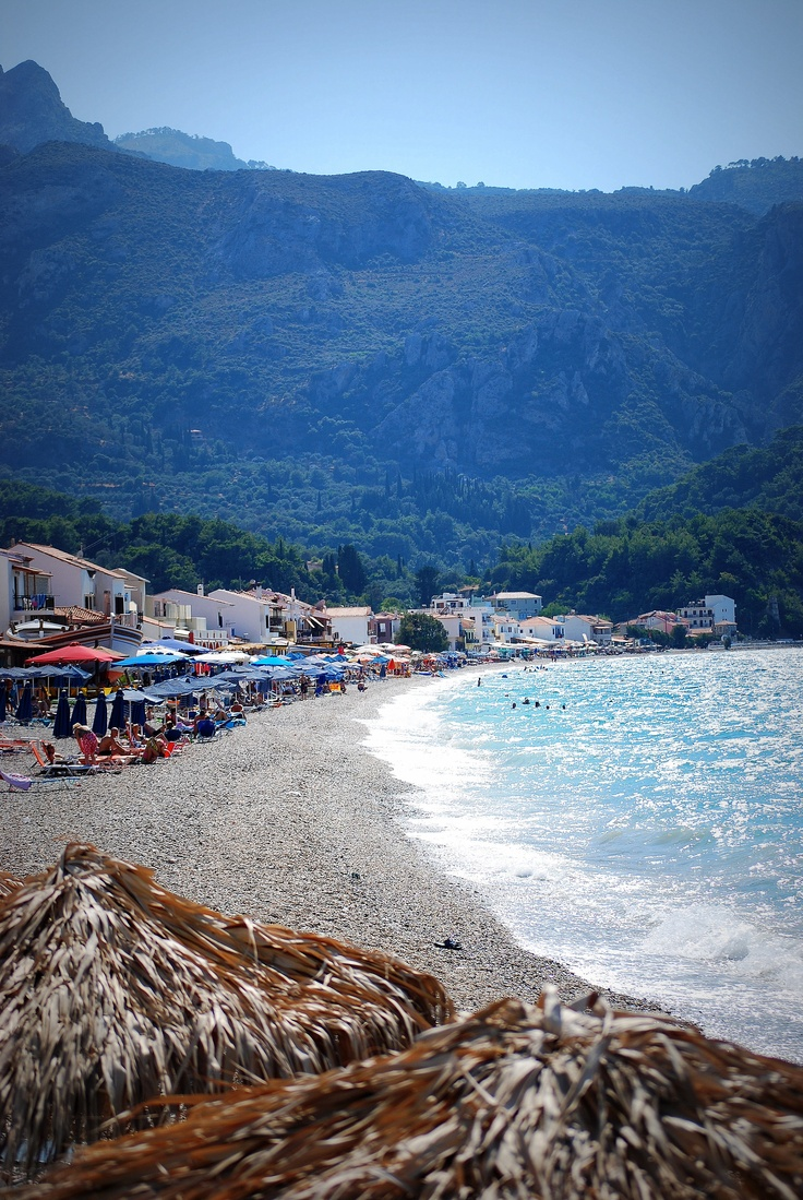 Kokkari, Samos  . The best waves I've wittnesed.