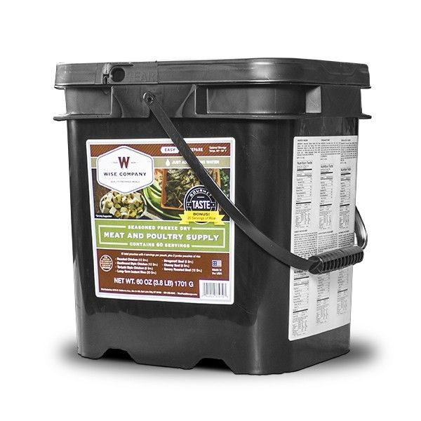 Wise Foods Emergency Disaster Preparedness Meat Food Storage Bucket - 80 Servings